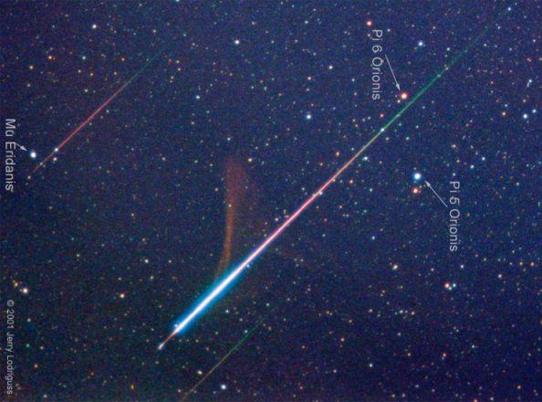 cor de meteoros