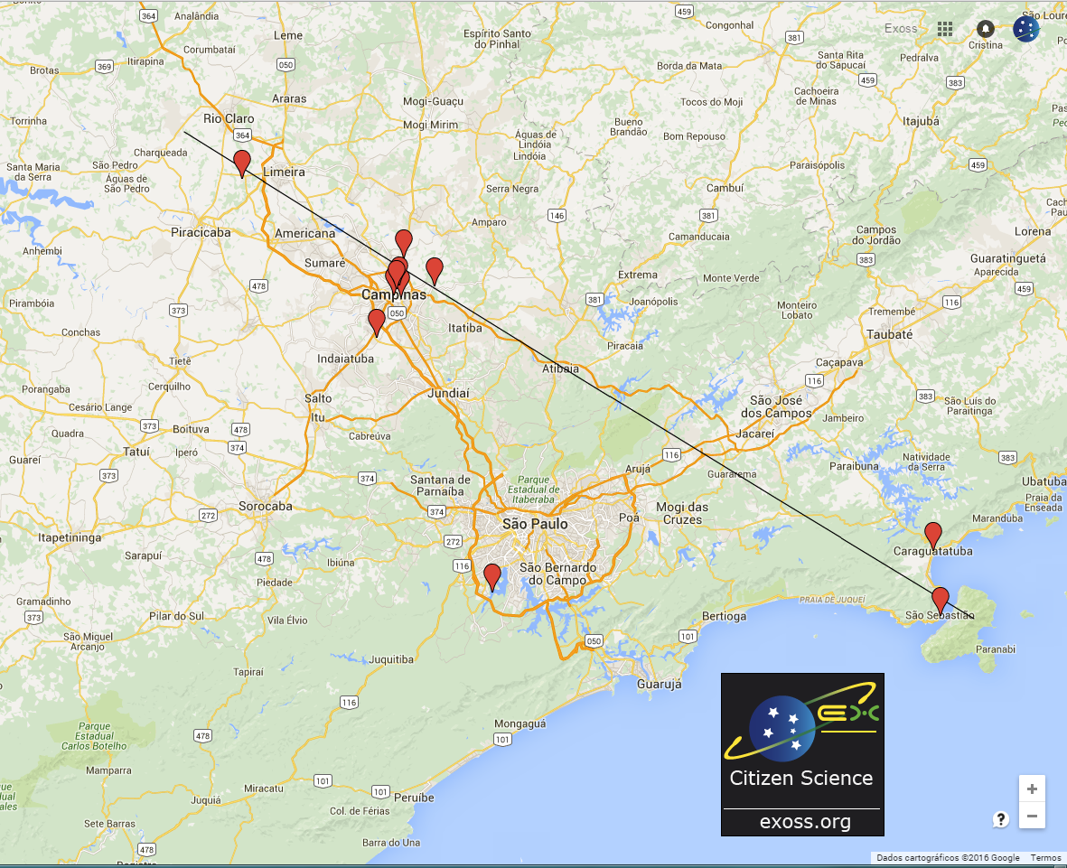 mapa exoss