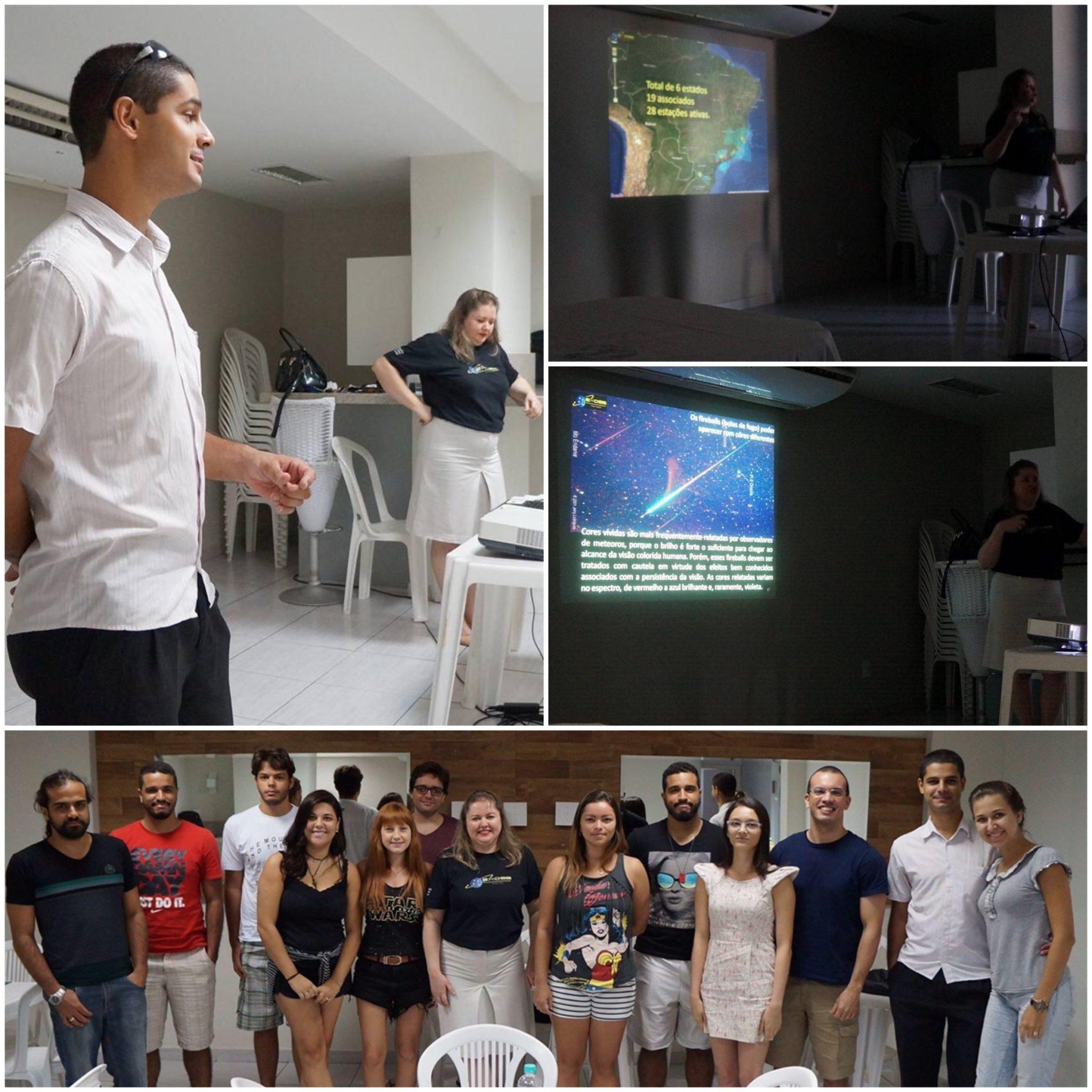 palestra exoss no clube astronomia do es
