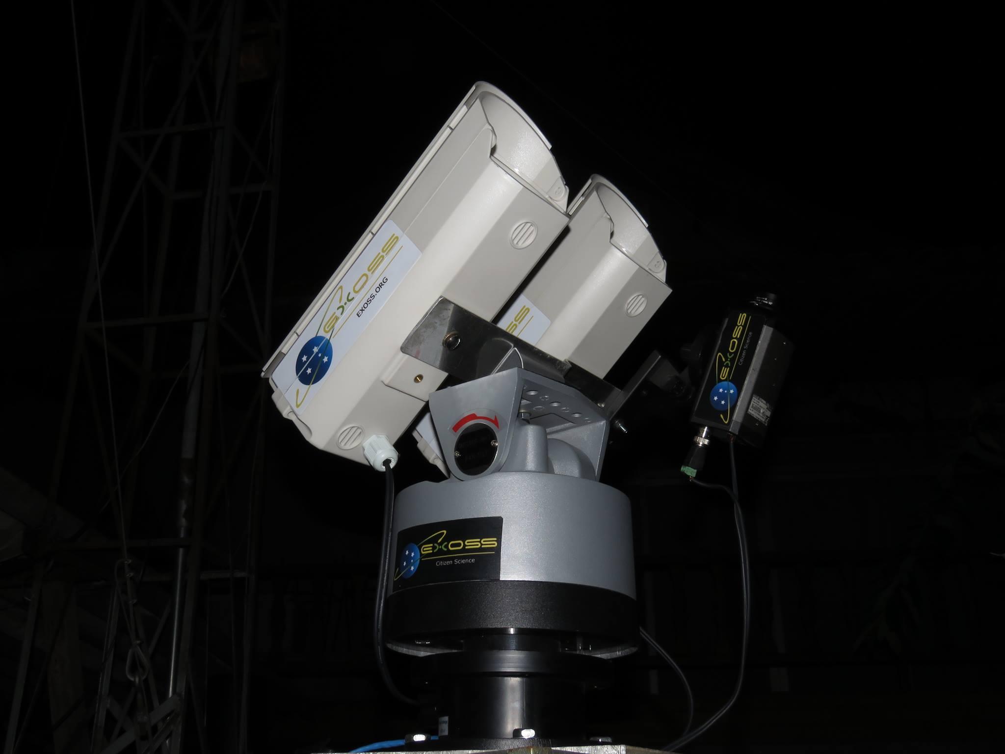 estação monitoramento de meteoros exoss