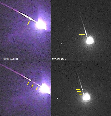 Cauda (rastro persistente) do meteoro