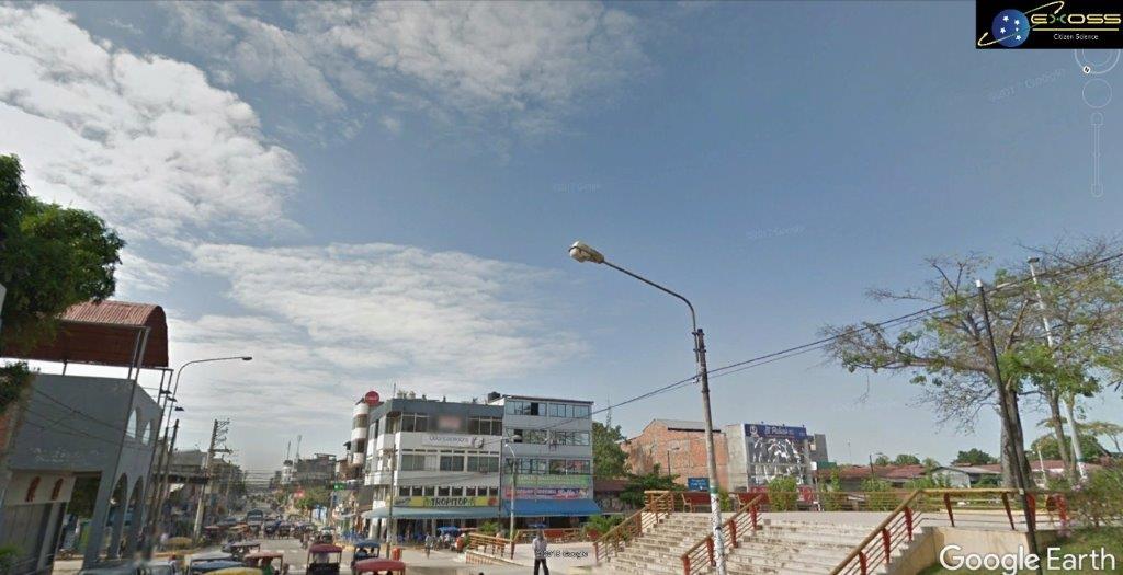 Imagem Google Earth Praça em Pucallpa