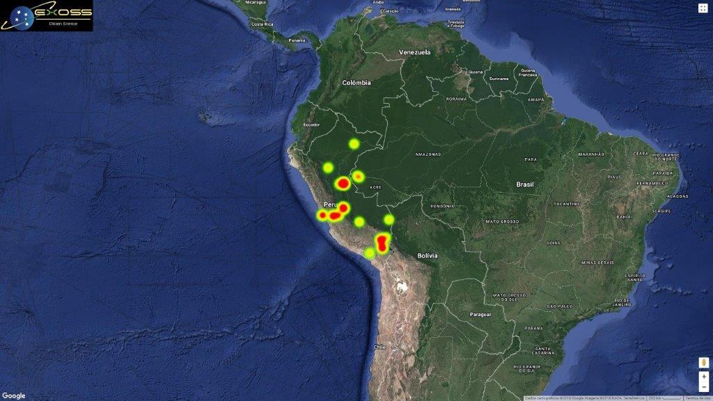 Região dos relatos, a reentrada tornou-se o maior evento já registrado na América do Sul por câmeras e passível de estudos por diversos grupos.