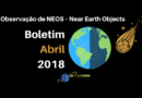 Observação de NEOS – Near Earth Objects – Boletim abril 2018