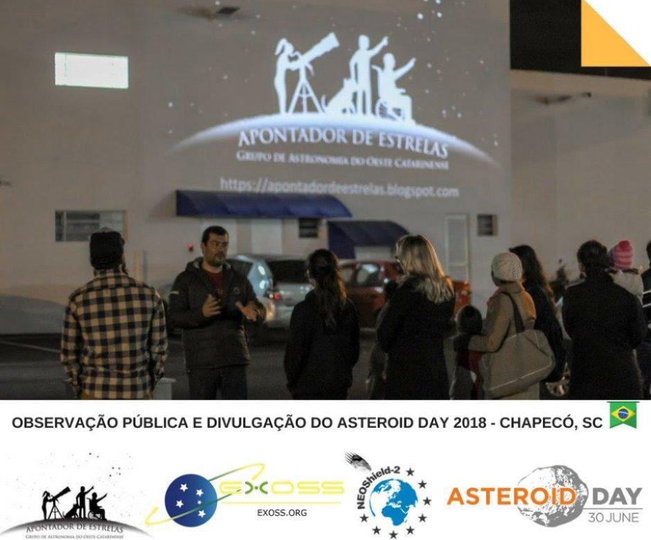 OBSERVAÇÃO PÚBLICA E DIVULGAÇÃO DO ASTEROID DAY 2018 – CHAPECÓ, SC