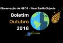 Observação de NEOS – Near Earth Objects – Boletim outubro 2018