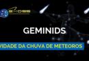 Atividade da Chuva de meteoros Geminids 2018
