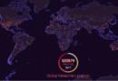 Mapa global de locais de queda de meteoritos